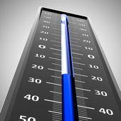 Primer plano de escarcha termómetro — Foto de Stock