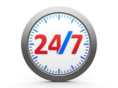 Round-the-clock service icon — Stock Photo