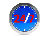 Round-the-clock service icon with highlight — 图库照片