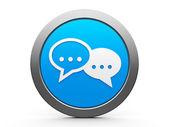 Icon internet conversation — Stock Photo