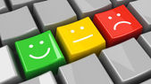 Keyboard positive, neutral and negative isometry — Stock Photo