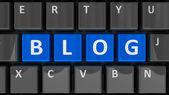 Computer-tastatur-blog — Stockfoto
