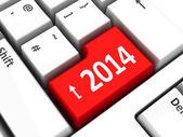 Computer keyboard 2014 — Stock Photo