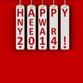 Szczęśliwego nowego roku 2014 — Zdjęcie stockowe