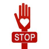 Hand with stop — ストック写真