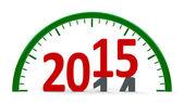 Clock dial 2015, half — Stock Photo