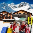 Winter holiday, ski, travel - Stock Photo