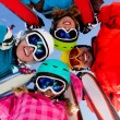 Ski, snow, sun and winter fun - Stok fotoğraf