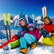Ski, snow, sun and winter fun — Stock Photo #13621761