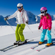 Stock Photo: Ski lesson