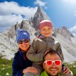Family on hike — Stock Photo