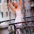 Lovely ballerina in Venice - Stockfoto