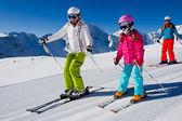 Ski lesson — Stock Photo