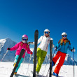 Stock Photo: Ski, snow, sun and winter fun