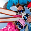 Ski, snow, sun and winter fun — Stock Photo #13752850