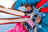 Ski, snow, sun and winter fun — Stockfoto