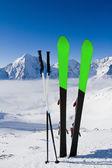 Wintervakantie, ski, reis — Stockfoto