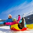 zabawa zimą — Zdjęcie stockowe