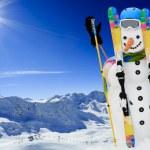 Ski, snowman and winter fun — Stock Photo #31300241