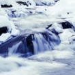 Winter river in Beskid mountains, Poland — Stock Photo