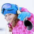 Stock Photo: Skiing, skier, winter sports - portrait of happy young skier