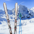 Ski, winter sport, winter mountains - ski run in ItaliAlps — Stok Fotoğraf #31303005