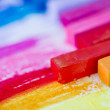 Colorful chalk pastels - education, arts, creative concept — Stock Photo