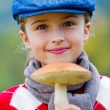 Mushrooms picking, season for mushrooms — Stock Photo