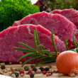 Beef, steak meat - barbecue, grill — Stockfoto