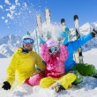 Stock Photo: Skiing, winter, snow, skiers, sun and fun