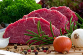 Beef, steak meat - barbecue, grill — Stock Photo