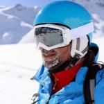 Skier, skiing, winter sport - portrait of skier — Stock Photo #32118823