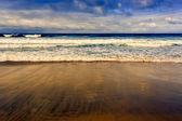 Plaża w fuerteventura, Wyspy Kanaryjskie, Hiszpania — Zdjęcie stockowe