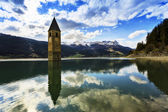 Campanile di Curon, Lago di Resia - Italy — Stock Photo