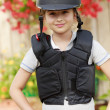 Equestrian girl on ranch ready to horseriding — Stock Photo #46825379