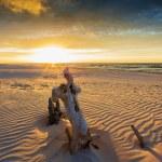Beach - sunset over the Baltic Sea, Poland — Stock Photo #46825825
