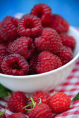 Raspberry, fruits - fresh raspberries from garden — Stockfoto