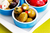 Mediterranean cuisine - antipasti, appetizer — Stock Photo