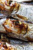 Fish - smoked sprats — Stock Photo