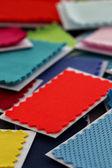 Design, fashion - A fabric samples — Stock Photo