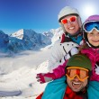 Skiing, winter, snow, skiers, sun and fun — Stock Photo #47437783