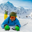 Ski, skier, winter sport - portrait of skier — Stock Photo #47438109