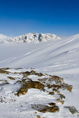 Winter mountains - snow-capped peaks of the Italian Alps — Stock Photo