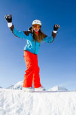 Snowboarding, snowboarder, sun and fun — Stock Photo