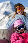 Winter, ski, snow, sun and fun — Stock Photo