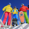 Skiing, winter, snow, skiers, sun and fun — Stock Photo #47441323
