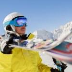 Skier, skiing, winter sport - portrait of  female skier — Stock Photo #47441841