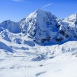 Winter mountains, ski run in Italian Alps — Stock Photo #47441885