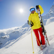 Skier, skiing, winter sport - portrait of  female skier — Stock Photo #47442263