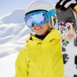 Skier, skiing, winter sport - portrait of  female skier — Stock Photo #47442267
